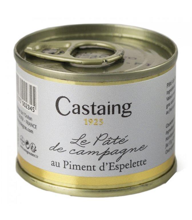 Paté de Campagne 67gr. Castaing. 5un.