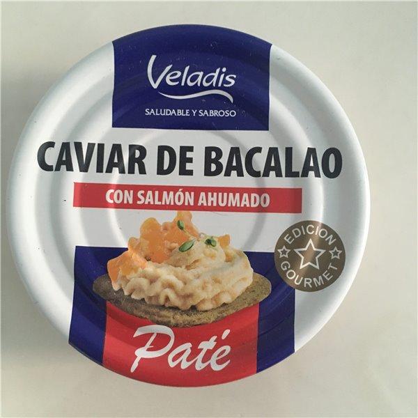Paté de Caviar de Bacalao con Salmón Ahumado