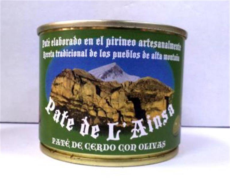 Paté de cerdo con olivas L´ainsa, 1 ud