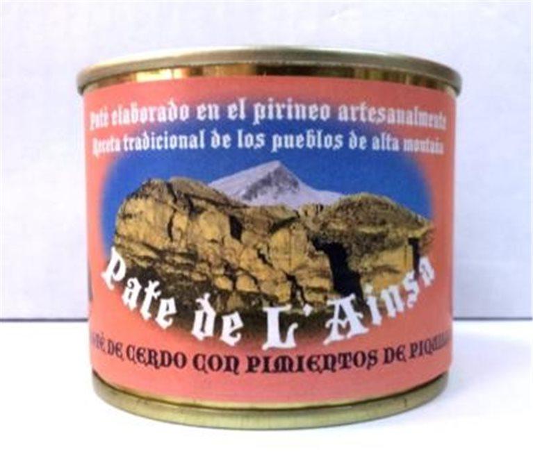 Paté de cerdo con pimientos de piquillo L´ainsa