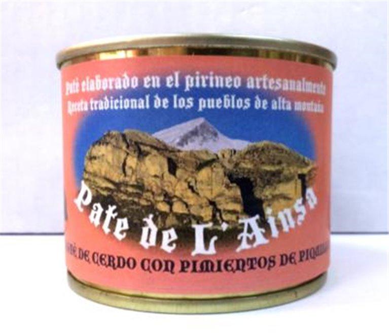 Paté de cerdo con pimientos de piquillo L´ainsa, 1 ud