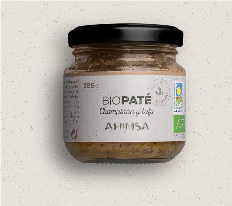 Paté Tofu Champiñón Bio Ahimsa, 125 gr