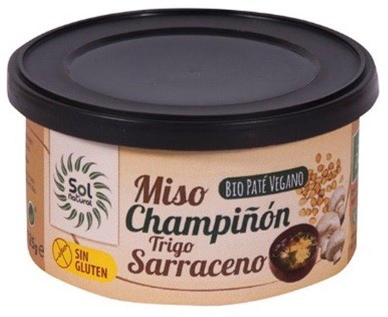 Paté Vegano de Miso, Champiñón y Trigo Sarraceno Bio 125g, 1 ud