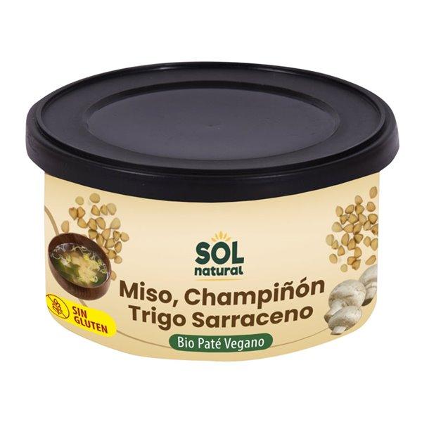 Paté Vegano de Miso, Champiñón y Trigo Sarraceno Bio 125g