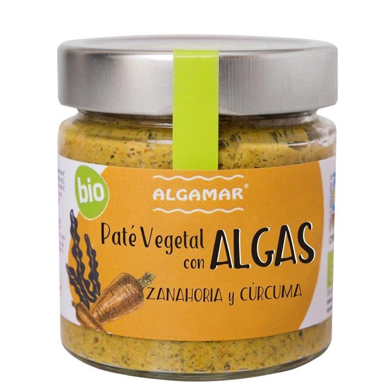 Paté Vegetal de Algas con Zanahoría y Cúrcuma Bio 180g