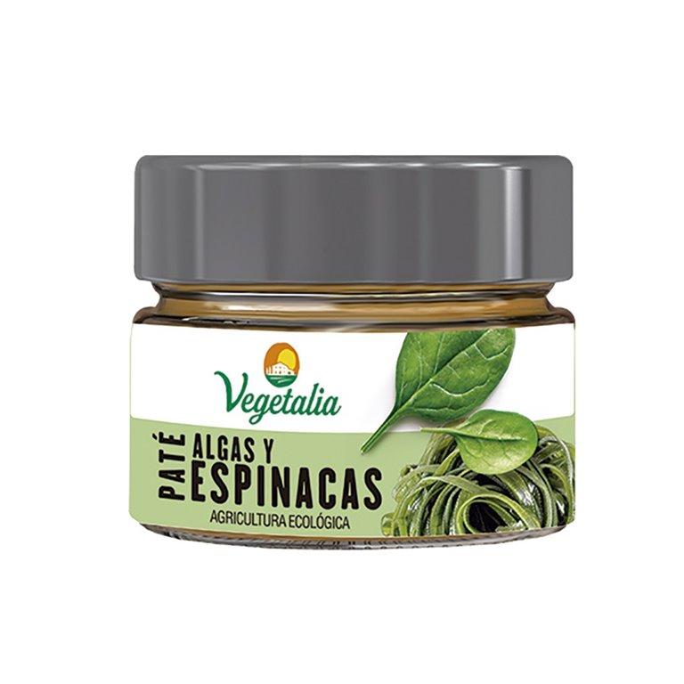 Paté Vegetal de Algas y Espinacas Bio 110g