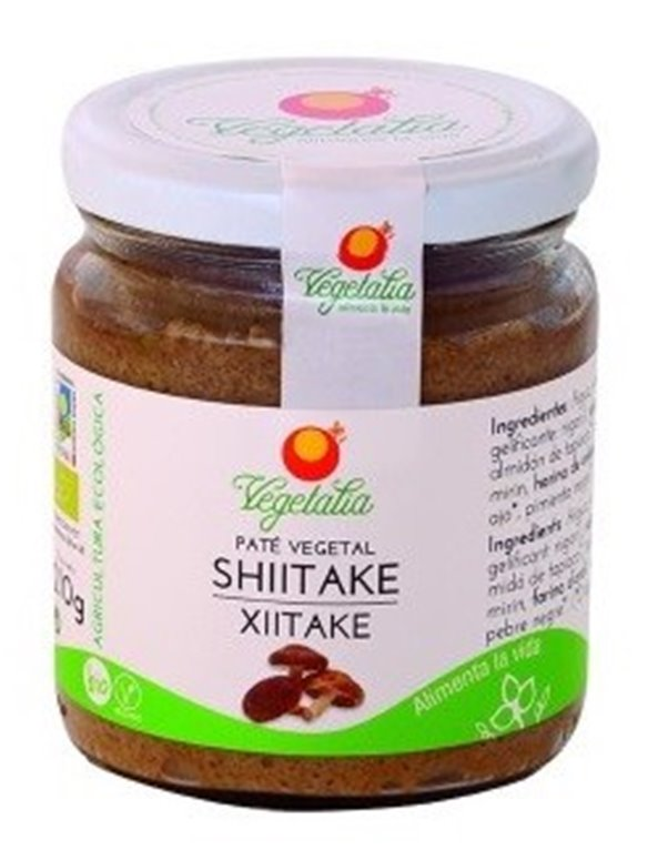 Paté Vegetal de Shiitake Bio 210g, 1 ud