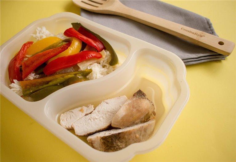 Pechuga de pollo con arroz y verduras (H11)