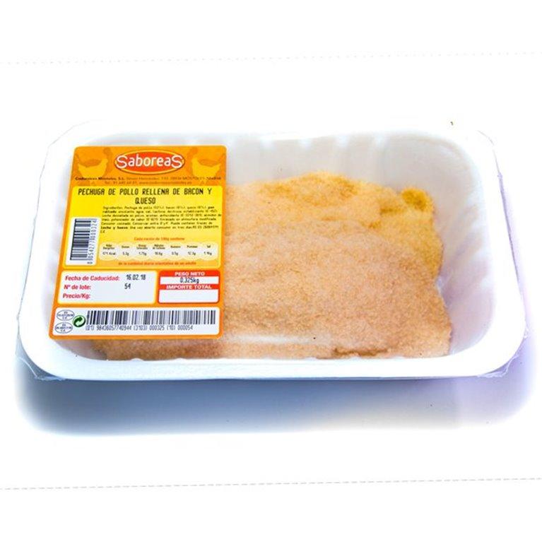 Pechuga de pollo rellena de bacon y queso