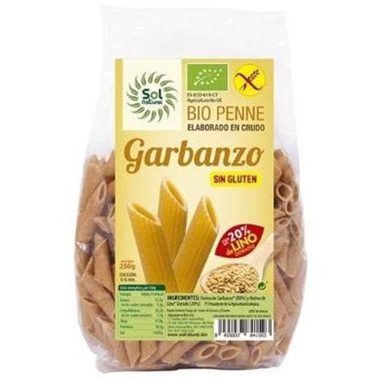 Penne de Garbanzo y Lino Sin Gluten Bio 250g