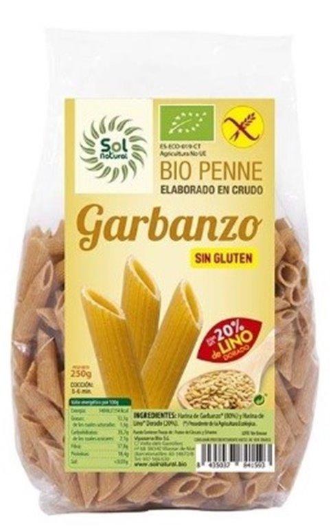 Penne de Garbanzos y Lino Dorado Sin Gluten Bio 250g