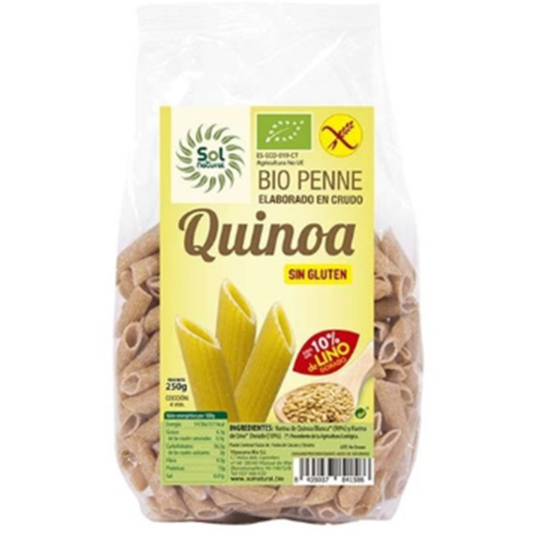 Penne de Quinoa con Lino Dorado Sin Gluten Bio 250g