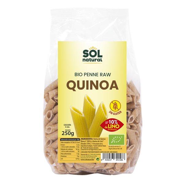 Penne de Quinoa con Lino Sin Gluten Bio 250g
