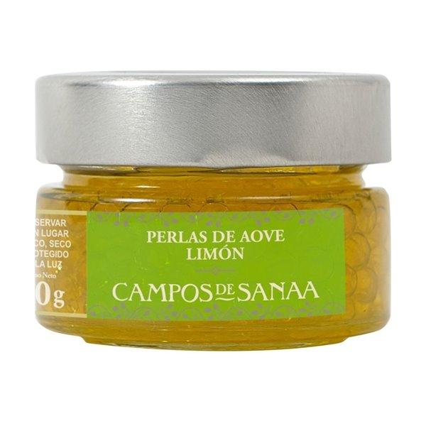 Perlas de Aceite de Oliva Virgen Extra al limón Campos de Sanaa