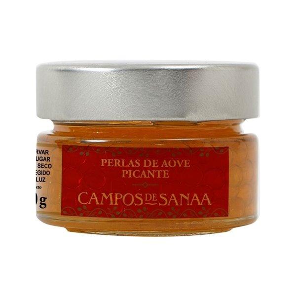 Perlas de Aceite de Oliva Virgen Extra picantes Campos de Sanaa