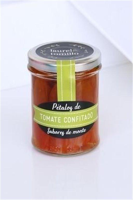 Pétalos de tomate confitado Laurel y Tomillo