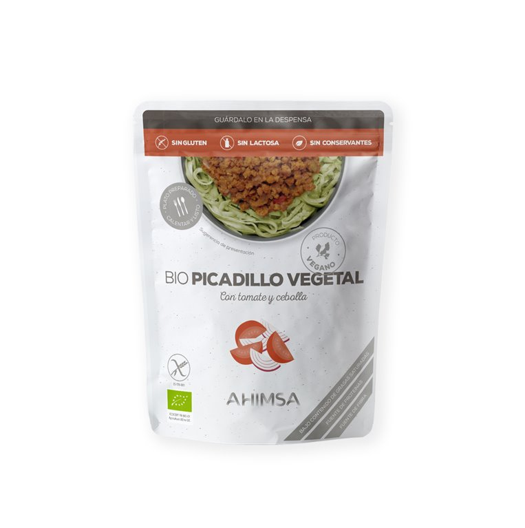 Picadillo Vegetal con Tomate y Cebolla Bio Ahimsa, 250 gr