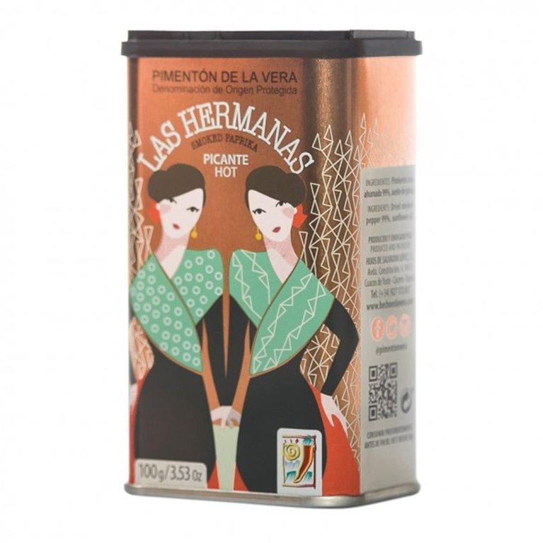 Pimentón de la Vera Picante Las Hermanas 70 gr., 1 ud