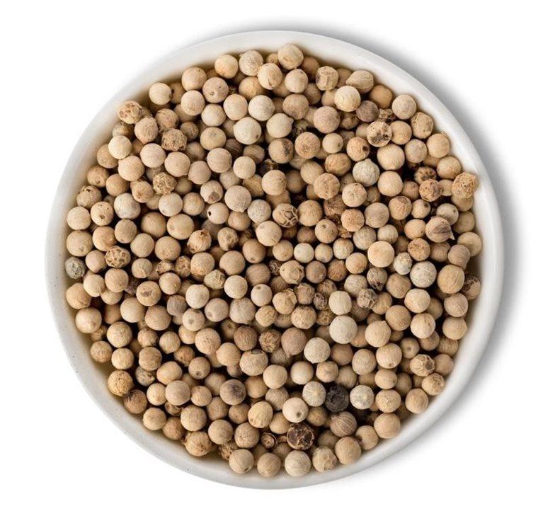Pimienta Blanca en grano, bote dosificador 46 gramos, 1 ud