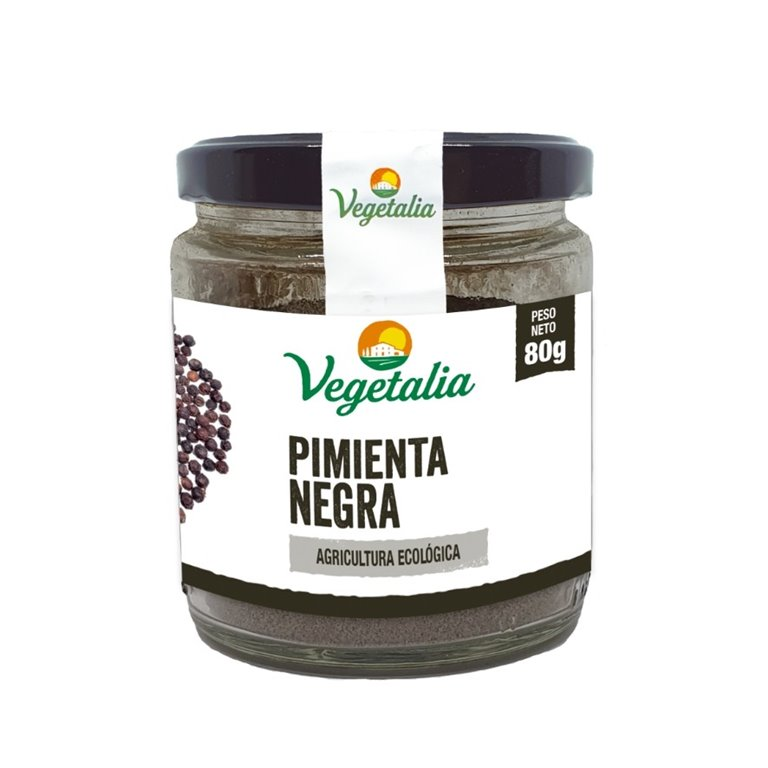 Pimienta Negra Molida Bio 80g