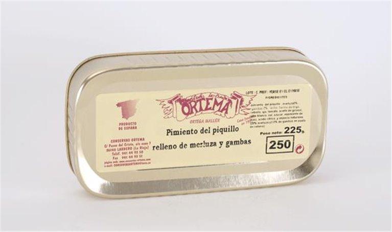 Pimiento del piquillo relleno de merluza, 1 ud