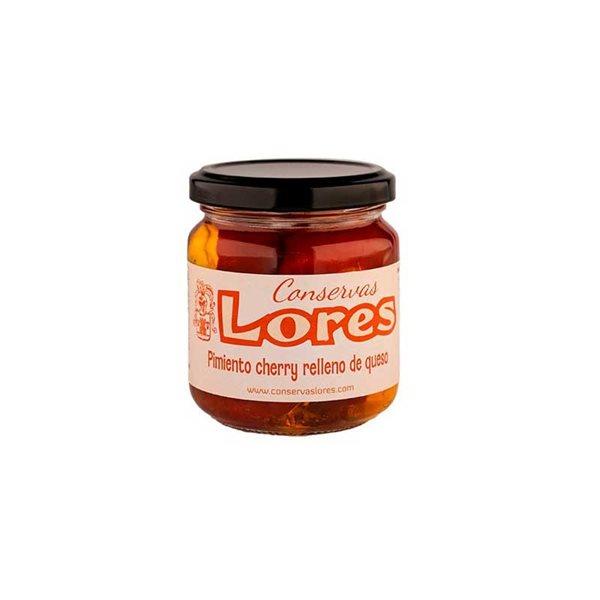 Pimientos cherry rellenos de queso Lores