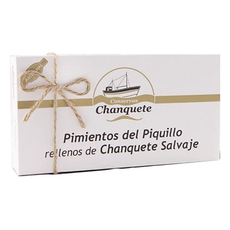 Pimientos de Piquillo rellenos de Chanquete Salvaje. Conservas Chanquete