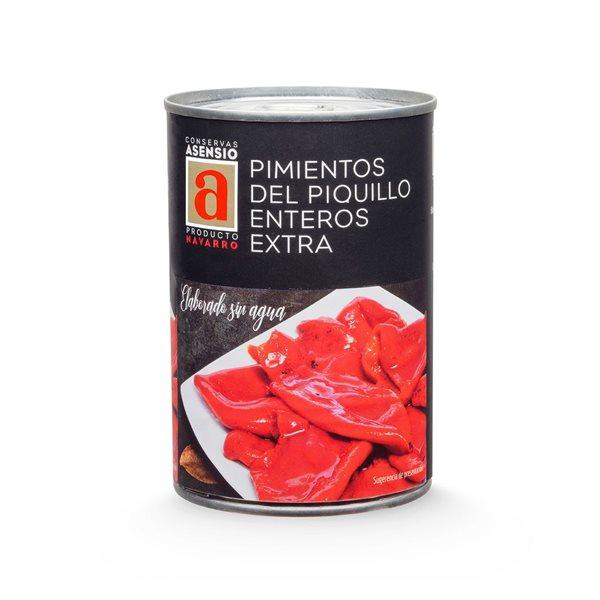 Pimientos del Piquillo Enteros 17-22 Extra 1/2 kg (390 g)asados a la leña