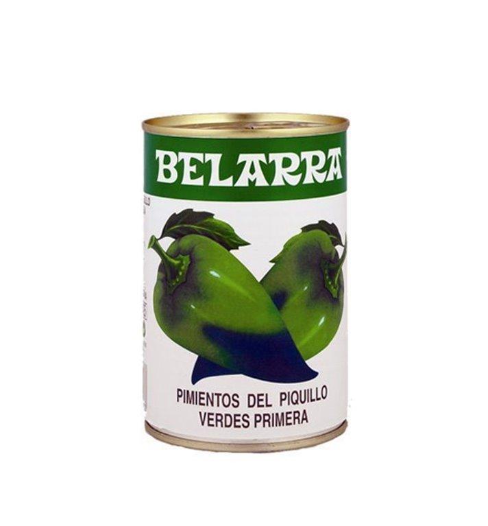 Pimientos del piquillo verde, peso neto 390 gr.