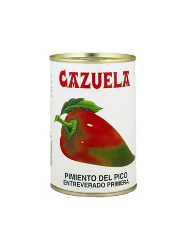 """Pimientos pico entreverado """"Cazuela"""", peso neto 390 gr."""