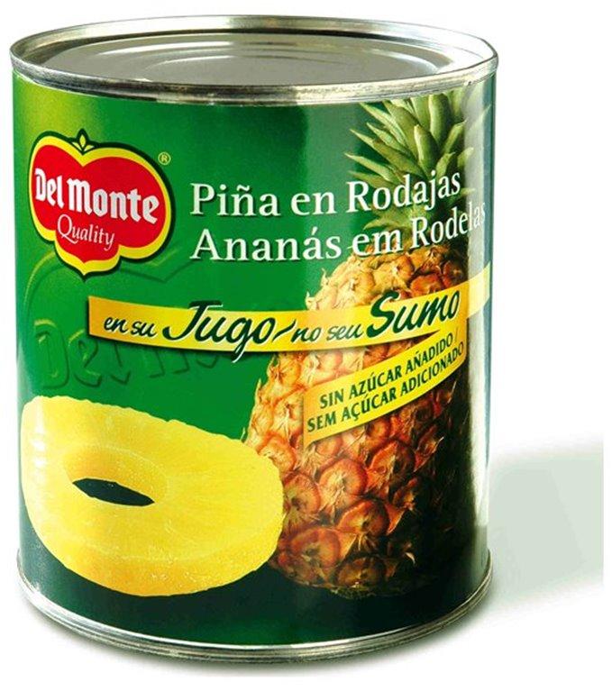 Piña en rodajas en su jugo Del Monte