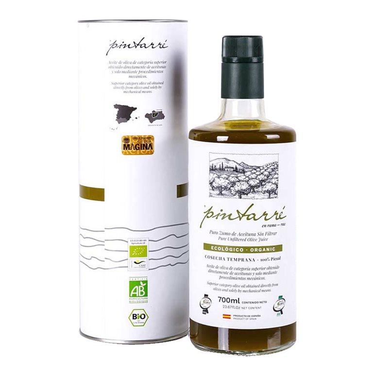 Pintarré - Ecológico - En Rama - Picual - Sin Filtrar - 6 Estuches Botella 700 ml