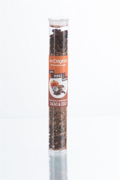 Pipas de Calabazacon Cacao y Coco