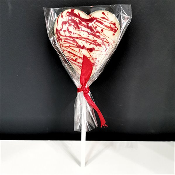 Piruleta corazón chocolate blanco