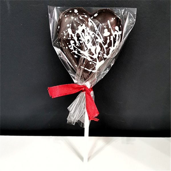 Piruleta corazón chocolate negro