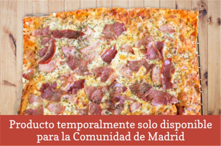 Natural pizza with iberian pork (850gr approx)
