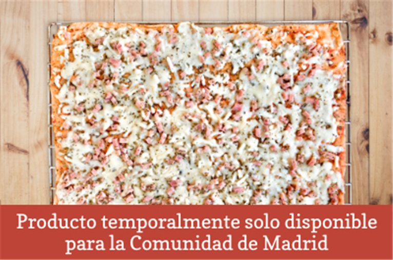 Natural ham and pork pizza (850gr approx)