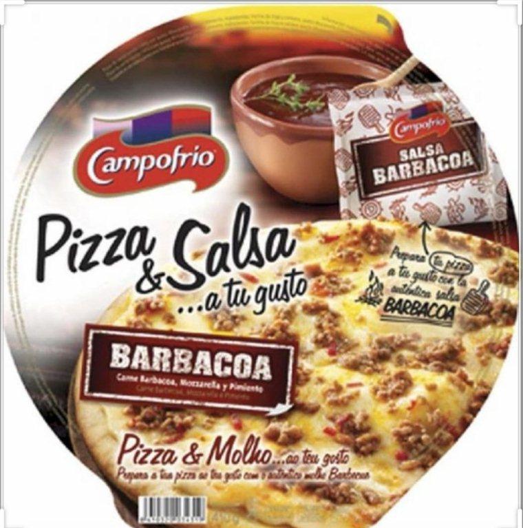 Pizza salsa barbacoa