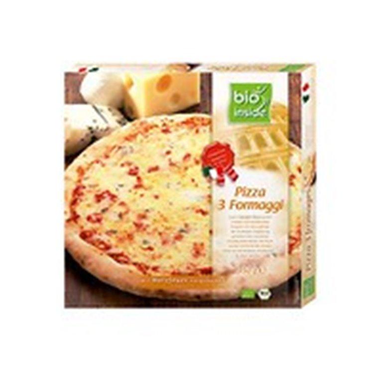 Pizza tres quesos congelada, 350 gr