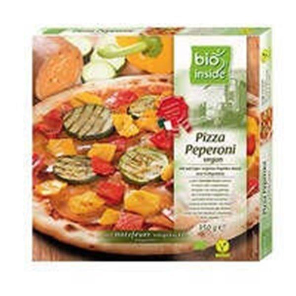 Pizza vegana con peperoni