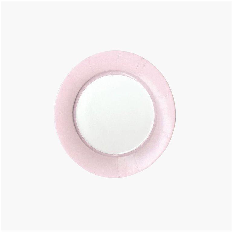 Plato Ensalada/Postre 8uds, Linen Petal Pink, 8uds, Caspari