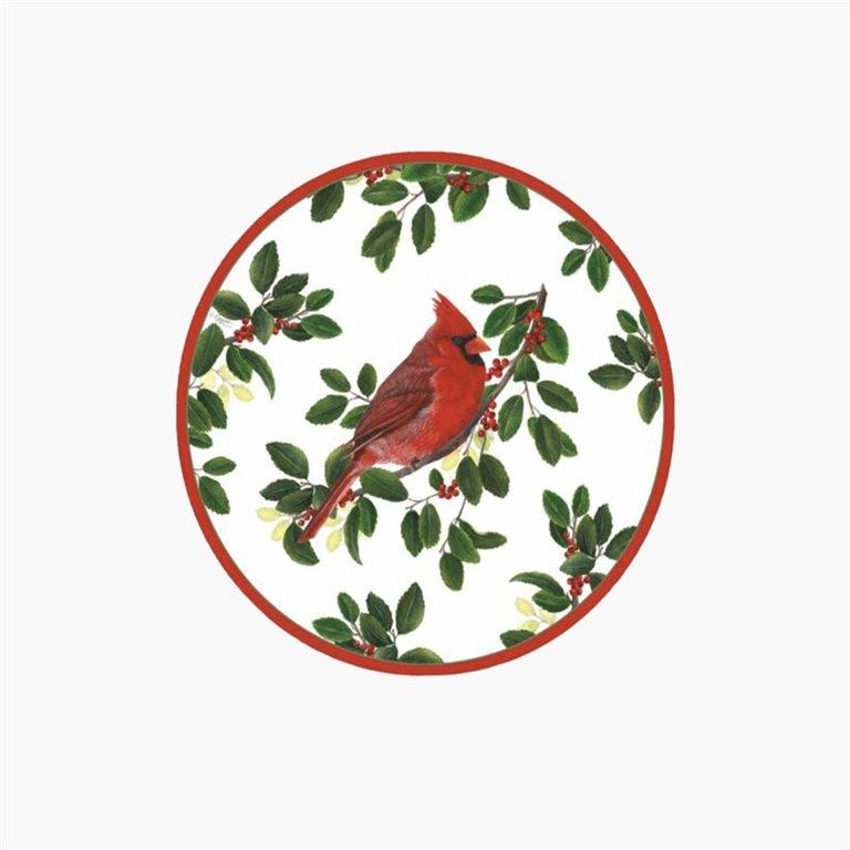 Plato Ensalada/Postre 8uds, Winter Songbirds, 8uds, Caspari