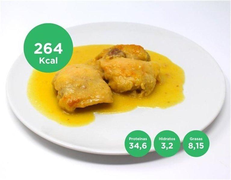 Pollo al mango y curry