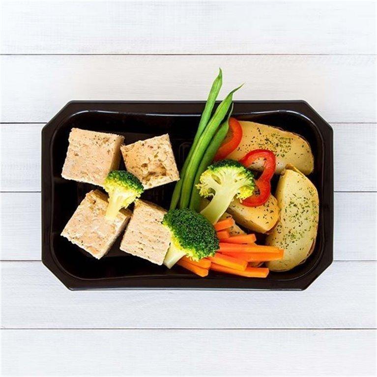 Pollo con patata y vegetales, 1 ud