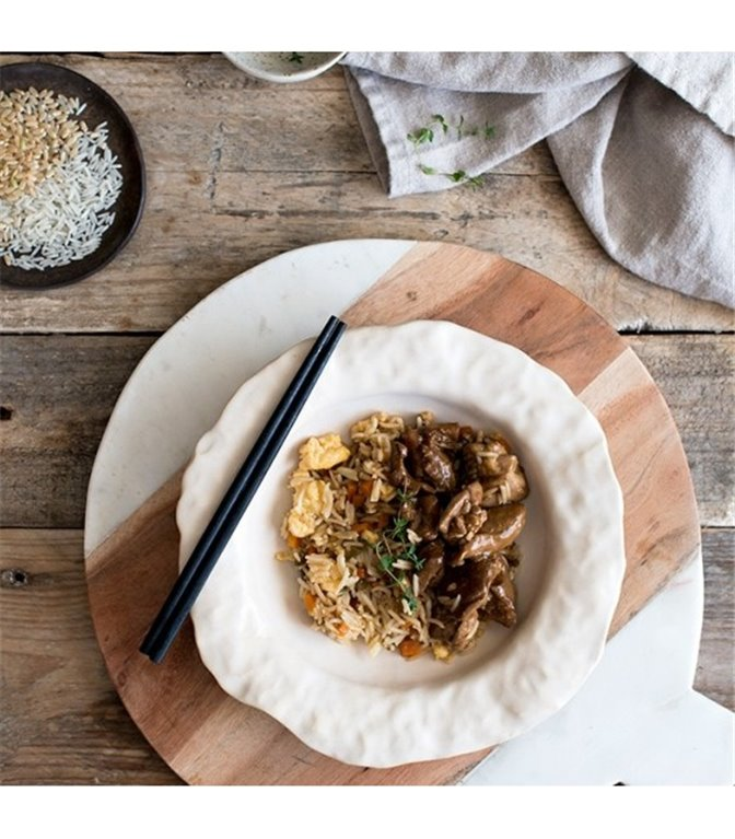 Pollo teriyaki con arroz chino - 350 g.
