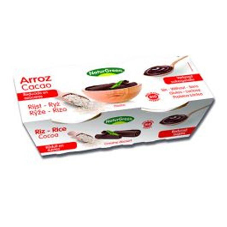 Postre Ecológico de Arroz y Cacao bajo en azúcar (2x125 g) NaturGreen., 1 ud