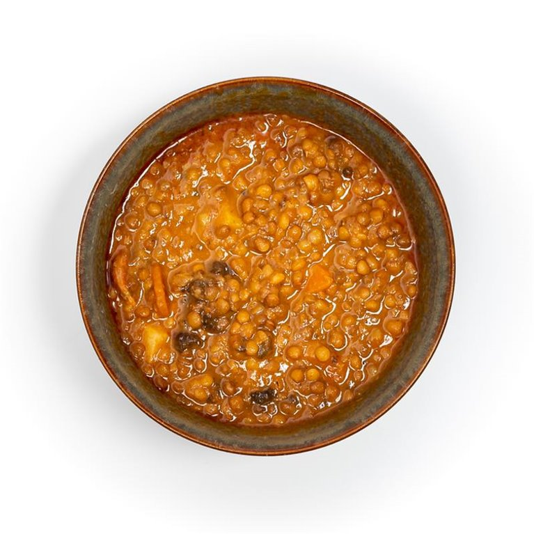 Potaje de Lentejas con Chorizo y Morcilla