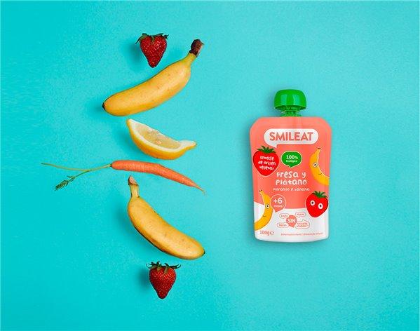 Pouch Fresa y Plátano Ecológico