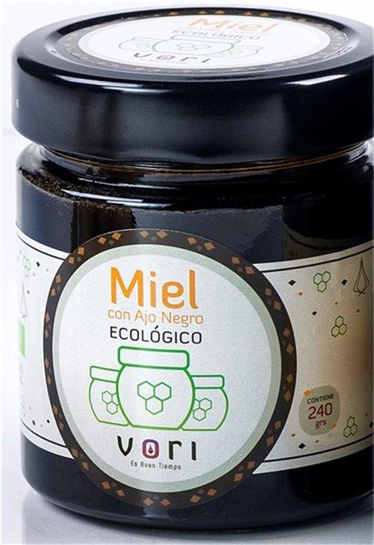 Preparado de miel con Ajo Negro VORI en Ecológico ( tarro de cristal 240 gr)