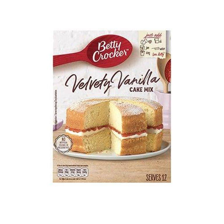 Preparado Tarta Velvety Vanilla 12uds 425g Betty Crocker
